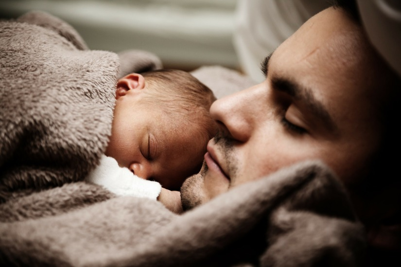 Father and newborn son